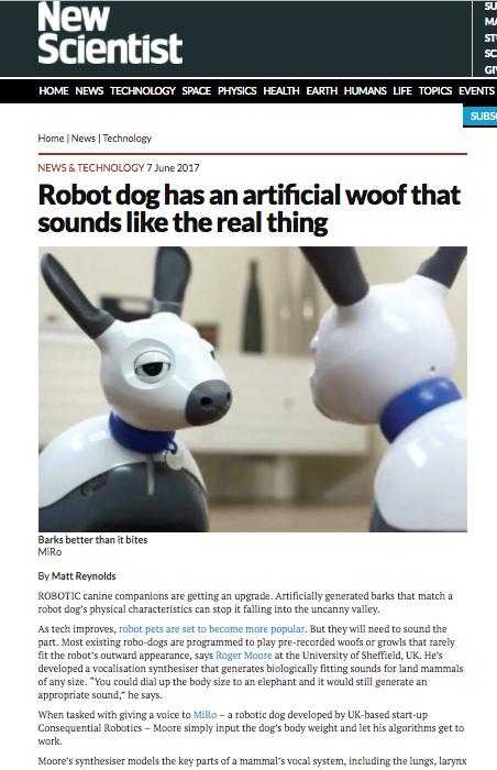 robot dog Sheffield